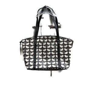 Relic faux leather black and white swan tote purse